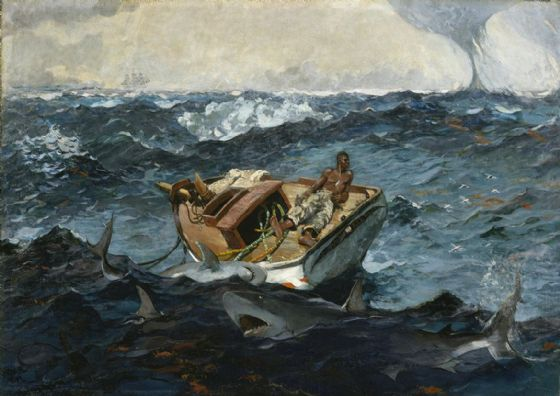 Homer, Winslow: The Gulf Stream. Nautical/Marine/Fishing Fine Art Print/Poster. Sizes: A4/A3/A2/A1 (003464)